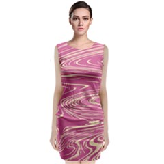Abstract Marble 14 Classic Sleeveless Midi Dress by tarastyle