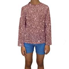 New Sparkling Glitter Print A Kids  Long Sleeve Swimwear by MoreColorsinLife