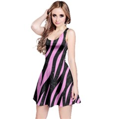 Skin3 Black Marble & Pink Colored Pencil (r) Reversible Sleeveless Dress by trendistuff