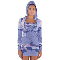 Abstract Nature 3 Long Sleeve Hooded T Shirt by tarastyle
