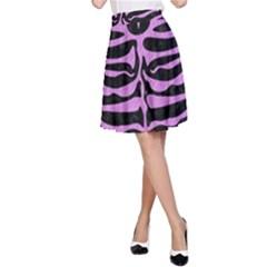 Skin2 Black Marble & Purple Colored Pencil (r) A Line Skirt by trendistuff