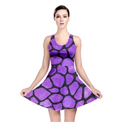 Skin1 Black Marble & Purple Watercolor (r) Reversible Skater Dress by trendistuff