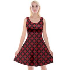 Circles3 Black Marble & Red Leather Reversible Velvet Sleeveless Dress by trendistuff