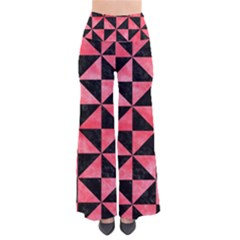 Triangle1 Black Marble & Red Watercolor Pants by trendistuff