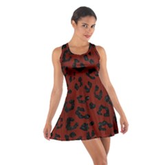 Skin5 Black Marble & Red Wood (r) Cotton Racerback Dress by trendistuff
