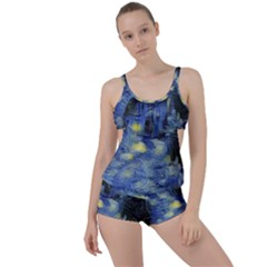 Van Gogh Inspired Boyleg Tankini Set  by 8fugoso