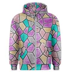 Mosaic Linda 3 Men s Zipper Hoodie by MoreColorsinLife