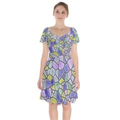 Mosaic Linda 5 Short Sleeve Bardot Dress