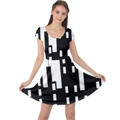 Tower City Town Building Black Cap Sleeve Dress by Jojostore