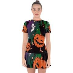 Happy Halloween Drop Hem Mini Chiffon Dress by Mariart