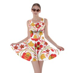 Wreaths Flower Floral Sexy Red Sunflower Star Rose Skater Dress by Mariart