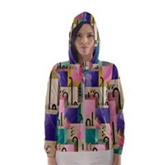 Magazine Balance Plaid Rainbow Hooded Wind Breaker (women)
