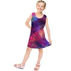 Abstract Shiny Night Lights 23 Kids  Tunic Dress by tarastyle