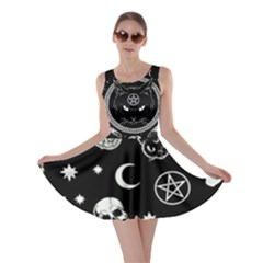 Halloween Magic Cat Symbols Skater Dress by SpookySugar