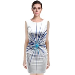 Fireworks Light Blue Space Happy New Year Classic Sleeveless Midi Dress by AnjaniArt
