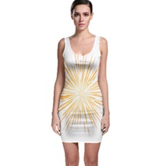 Fireworks Light Yellow Space Happy New Year Bodycon Dress