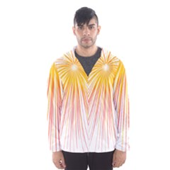 Fireworks Yellow Light Hooded Wind Breaker (men)