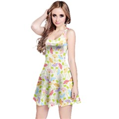 Flower Rainbow Sexy Leaf Plaid Vertical Horizon Reversible Sleeveless Dress by AnjaniArt