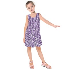New York Map Art City Street Purple Line Kids  Sleeveless Dress