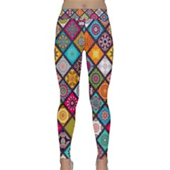 Flower Star Sign Rainbow Sexy Plaid Chevron Wave Classic Yoga Leggings