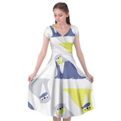 Seals Sea Lions Animals Fish Cap Sleeve Wrap Front Dress by AnjaniArt