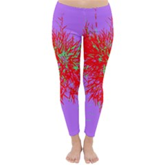 Spot Paint Red Green Purple Sexy Classic Winter Leggings by AnjaniArt
