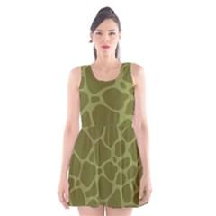 Autumn Animal Print 1 Scoop Neck Skater Dress by tarastyle