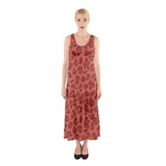 Autumn Animal Print 4 Sleeveless Maxi Dress by tarastyle