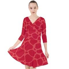 Autumn Animal Print 6 Quarter Sleeve Front Wrap Dress by tarastyle