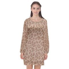 Autumn Animal Print 9 Long Sleeve Chiffon Shift Dress  by tarastyle