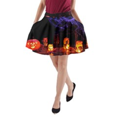 Awaiting Halloween Night A Line Pocket Skirt by gothicandhalloweenstore