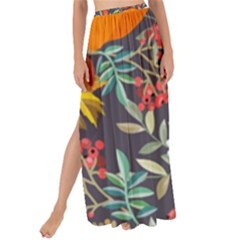 Autumn Flowers Pattern 12 Maxi Chiffon Tie Up Sarong by tarastyle