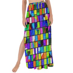 Colorful Squares Pattern                           Maxi Chiffon Tie Up Sarong by LalyLauraFLM