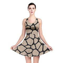 Skin1 Black Marble & Sand (r) Reversible Skater Dress by trendistuff