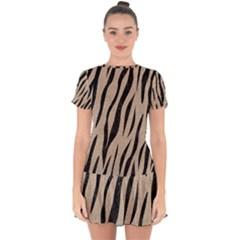 Skin3 Black Marble & Sand Drop Hem Mini Chiffon Dress by trendistuff