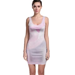 Rose Pink Flower, Floral Aquarel   Watercolor Painting Art Bodycon Dress by picsaspassion