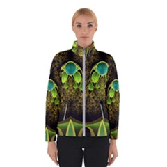 Beautiful Gold And Green Fractal Peacock Feathers Winterwear by jayaprime