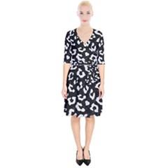Skin5 Black Marble & White Linen Wrap Up Cocktail Dress by trendistuff