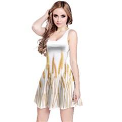 Wheat Plants Reversible Sleeveless Dress