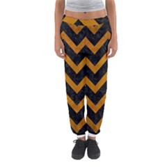 Chevron9 Black Marble & Yellow Grunge (r) Women s Jogger Sweatpants by trendistuff
