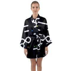 Line Circle Triangle Polka Sign Long Sleeve Kimono Robe by Mariart
