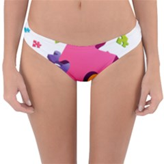 Passel Picture Green Pink Blue Sexy Game Reversible Hipster Bikini Bottoms