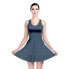 Rain Hill Tree Waves Sky Water Reversible Skater Dress by Mariart