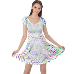 Prismatic Abstract Rainbow Cap Sleeve Dress