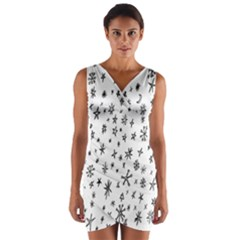 Star Doodle Wrap Front Bodycon Dress by Mariart