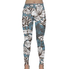 Star Flower Grey Blue Beauty Sexy Classic Yoga Leggings