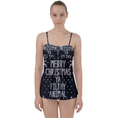 Ugly Christmas Sweater Babydoll Tankini Set by Valentinaart