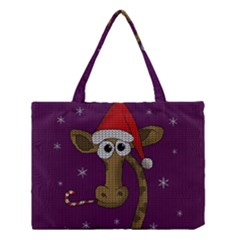 Christmas Giraffe  Medium Tote Bag