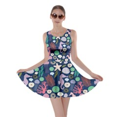 Seahorses Jellyfish Seaworld Sea  Beach Swiim Skater Dress by Mariart