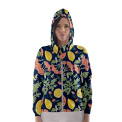Summer Fruite Orange Lemmon Tomato Hooded Wind Breaker (women)